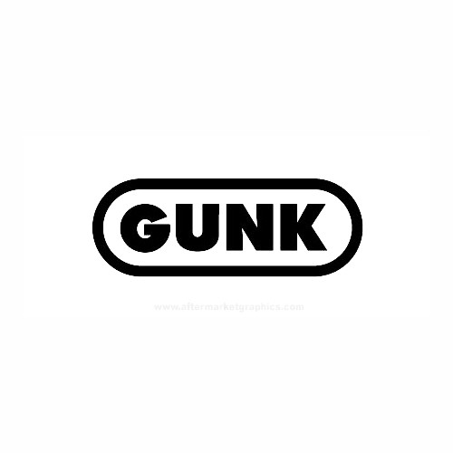 GUNK Motorcycle Vinyl Decal Set High glossy, premium 3 mill vinyl, with a life span of 5 - 7 years!