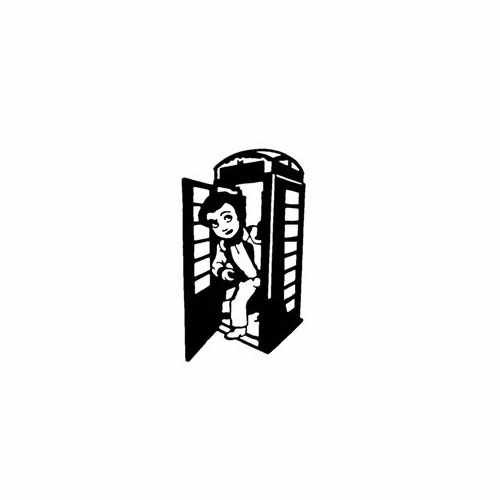 Doctor And Tardis  Vinyl Decal Sticker  Size option will determine the size from the longest side Industry standard high performance calendared vinyl film Cut from Oracle 651 2.5 mil Outdoor durability is 7 years Glossy surface finish