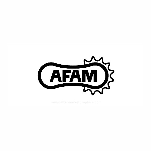 AFAM Belts Motorcycle Vinyl Decal Set High glossy, premium 3 mill vinyl, with a life span of 5 - 7 years!
