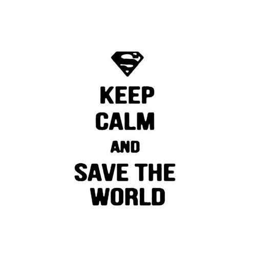 Keep Calm And Save The World Vinyl Decal Sticker Size option will determine the size from the longest side Industry standard high performance calendared vinyl film Cut from Oracle 651 2.5 mil Outdoor durability is 7 years Glossy surface finish