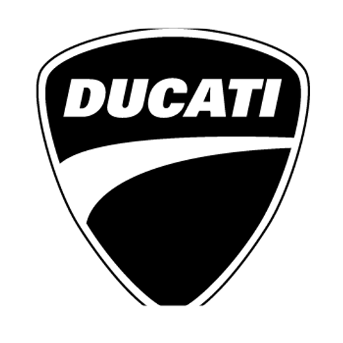 Ducati Logo  Vinyl Decal High glossy, premium 3 mill vinyl, with a life span of 5 - 7 years!