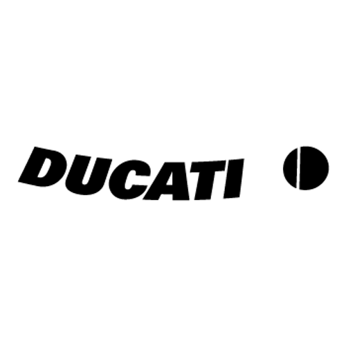 Ducati Curved  Vinyl Decal High glossy, premium 3 mill vinyl, with a life span of 5 - 7 years!