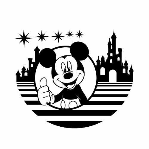 Disney Mickey Mouse Vinyl Decal Sticker  Size option will determine the size from the longest side Industry standard high performance calendared vinyl film Cut from Oracle 651 2.5 mil Outdoor durability is 7 years Glossy surface finish