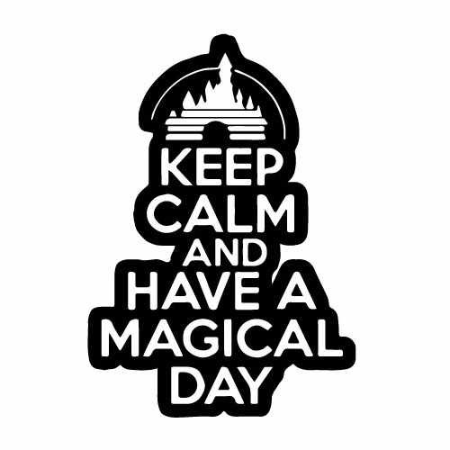 Disney Keep Calm Vinyl Decal Sticker  Size option will determine the size from the longest side Industry standard high performance calendared vinyl film Cut from Oracle 651 2.5 mil Outdoor durability is 7 years Glossy surface finish