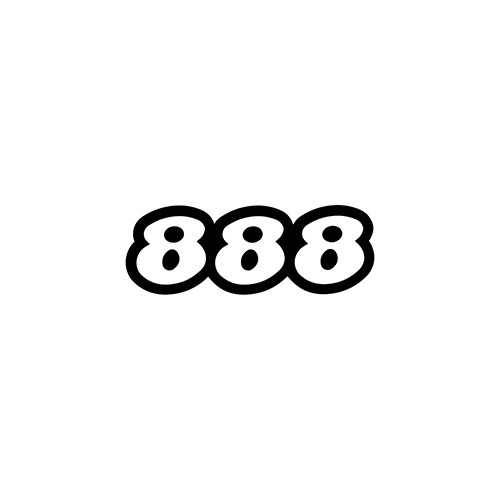 888 Outline   Aftermarket Decal High glossy, premium 3 mill vinyl, with a life span of 5 - 7 years!