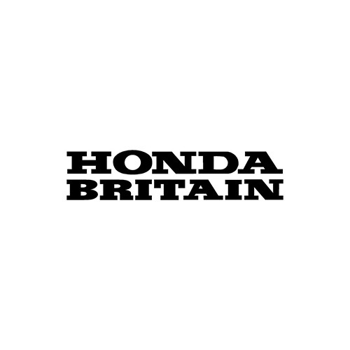 HONDA BRITAIN belly pan Aftermarket Decal High glossy, premium 3 mill vinyl, with a life span of 5 - 7 years!