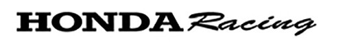 HONDA RACING BELLY PAN Aftermarket Decal