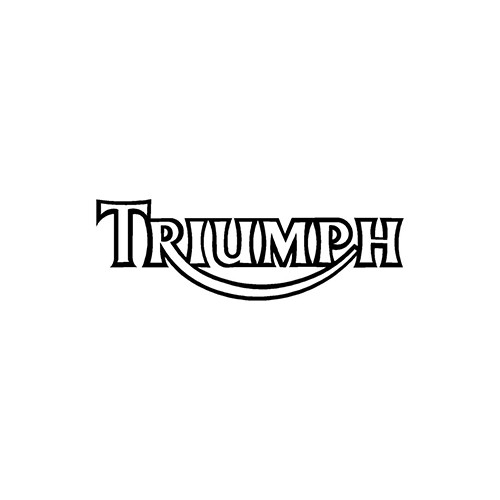 TRIUMPH Outline  Aftermarket Decal High glossy, premium 3 mill vinyl, with a life span of 5 - 7 years!