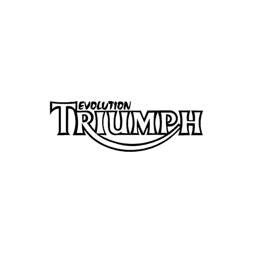 triumph evolution  Aftermarket Decal High glossy, premium 3 mill vinyl, with a life span of 5 - 7 years!