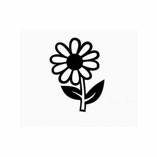 Daisy Flower  Vinyl Decal Sticker  Size option will determine the size from the longest side Industry standard high performance calendared vinyl film Cut from Oracle 651 2.5 mil Outdoor durability is 7 years Glossy surface finish