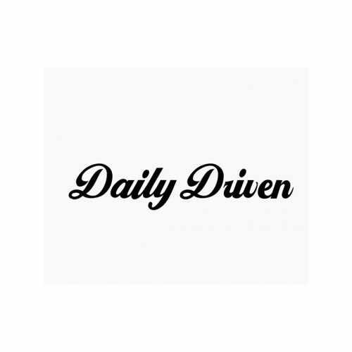 Daily Driven Jdm  Vinyl Decal Sticker  Size option will determine the size from the longest side Industry standard high performance calendared vinyl film Cut from Oracle 651 2.5 mil Outdoor durability is 7 years Glossy surface finish