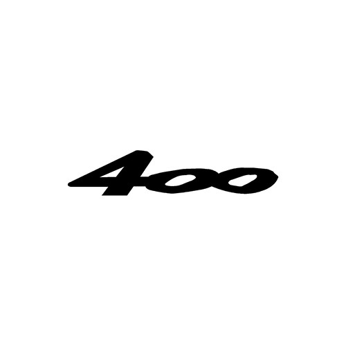 400  Aftermarket Decal High glossy, premium 3 mill vinyl, with a life span of 5 - 7 years!