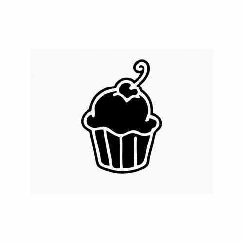 Cupcake  Vinyl Decal Sticker  Size option will determine the size from the longest side Industry standard high performance calendared vinyl film Cut from Oracle 651 2.5 mil Outdoor durability is 7 years Glossy surface finish