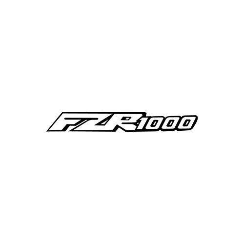 FZR1000 Outline  Aftermarket Decal High glossy, premium 3 mill vinyl, with a life span of 5 - 7 years!