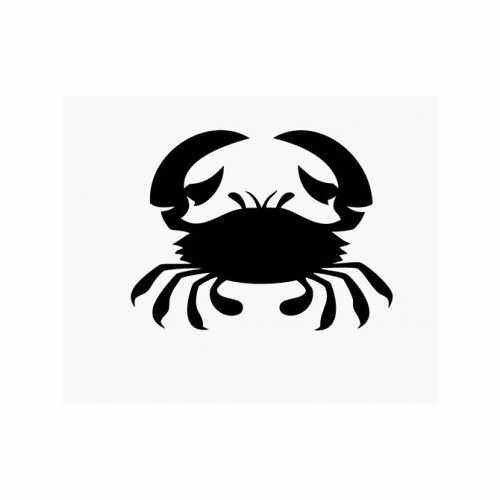 Crab  Vinyl Decal Sticker  Size option will determine the size from the longest side Industry standard high performance calendared vinyl film Cut from Oracle 651 2.5 mil Outdoor durability is 7 years Glossy surface finish