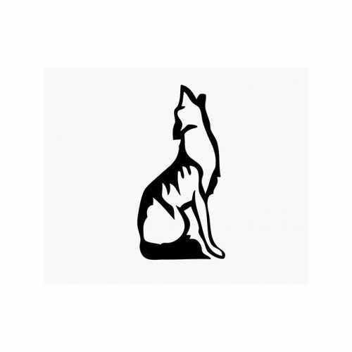 Coyote Wolf Howling  Vinyl Decal Sticker  Size option will determine the size from the longest side Industry standard high performance calendared vinyl film Cut from Oracle 651 2.5 mil Outdoor durability is 7 years Glossy surface finish