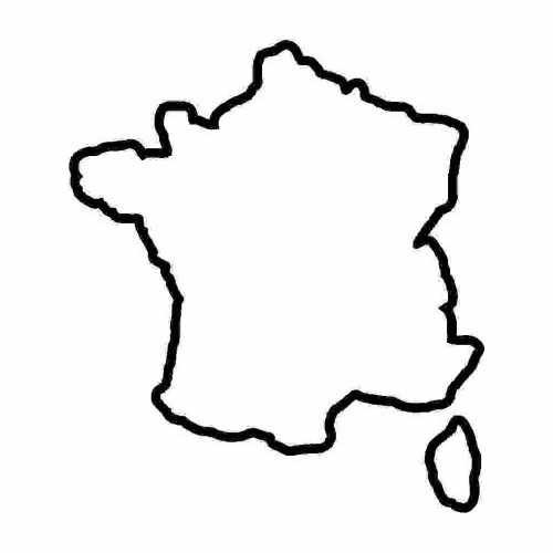 Country France  Vinyl Decal Sticker  Size option will determine the size from the longest side Industry standard high performance calendared vinyl film Cut from Oracle 651 2.5 mil Outdoor durability is 7 years Glossy surface finish