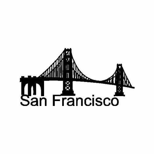 City San Francisco  Vinyl Decal Sticker  Size option will determine the size from the longest side Industry standard high performance calendared vinyl film Cut from Oracle 651 2.5 mil Outdoor durability is 7 years Glossy surface finish