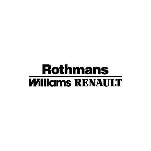 ROTHMANS WILLIAMS RENAULT  Aftermarket Decal High glossy, premium 3 mill vinyl, with a life span of 5 - 7 years!