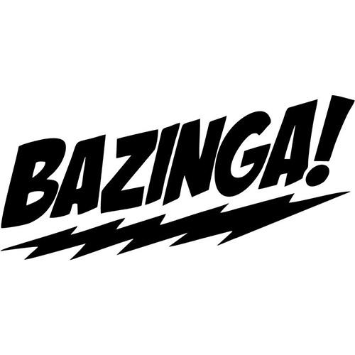 Bazinga Big Bang Theory Sheldon Vinyl Decal <div> High glossy, premium 3 mill vinyl, with a life span of 5 – 7 years! </div>