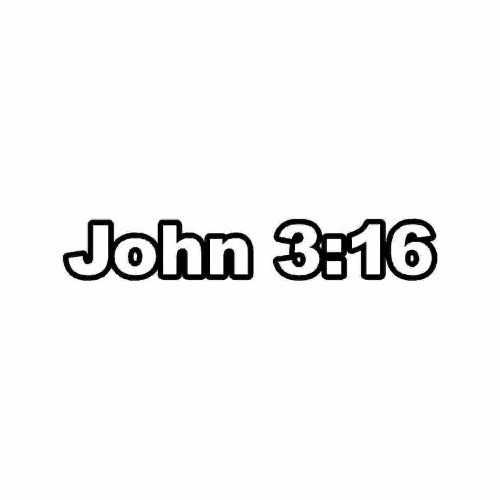 Christian John 316  Vinyl Decal Sticker  Size option will determine the size from the longest side Industry standard high performance calendared vinyl film Cut from Oracle 651 2.5 mil Outdoor durability is 7 years Glossy surface finish