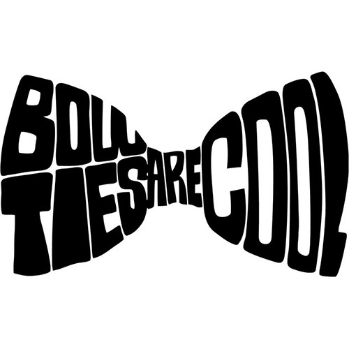 Bow Ties Are Cool Vinyl Decal <div> High glossy, premium 3 mill vinyl, with a life span of 5 – 7 years! </div>