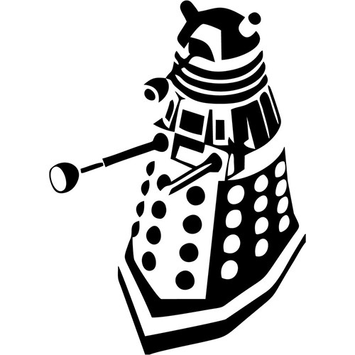 Dalek Front Side Vinyl Decal <div> High glossy, premium 3 mill vinyl, with a life span of 5 – 7 years! </div>
