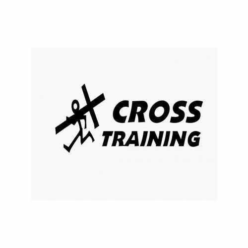Christian Cross Training  Vinyl Decal Sticker  Size option will determine the size from the longest side Industry standard high performance calendared vinyl film Cut from Oracle 651 2.5 mil Outdoor durability is 7 years Glossy surface finish