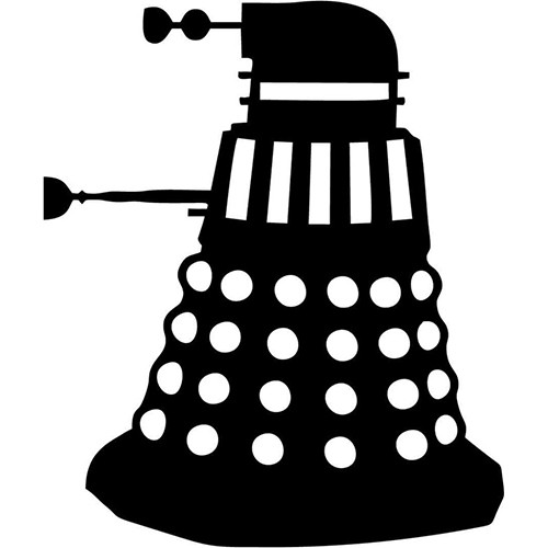 Dalek Side Vinyl Decal <div> High glossy, premium 3 mill vinyl, with a life span of 5 – 7 years! </div>