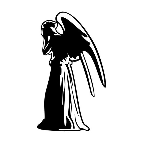 Weeping Angel Vinyl Decal <div> High glossy, premium 3 mill vinyl, with a life span of 5 – 7 years! </div>
