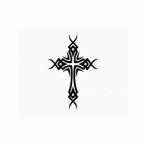 Christian Cross Christ  Vinyl Decal Sticker  Size option will determine the size from the longest side Industry standard high performance calendared vinyl film Cut from Oracle 651 2.5 mil Outdoor durability is 7 years Glossy surface finish