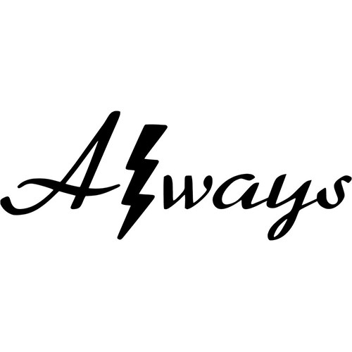 Harry Potter Always with Lightning Bolt Vinyl Decal <div> High glossy, premium 3 mill vinyl, with a life span of 5 – 7 years! </div>