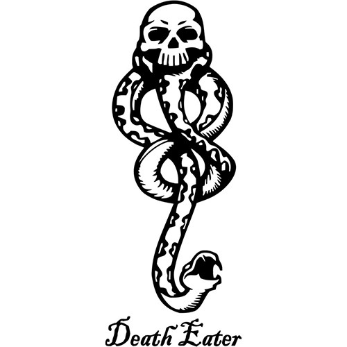 Harry Potter Death Eater Dark Mark Vinyl Decal <div> High glossy, premium 3 mill vinyl, with a life span of 5 – 7 years! </div>