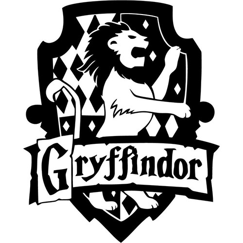 Harry Potter Gryffindor House Vinyl Decal <div> High glossy, premium 3 mill vinyl, with a life span of 5 – 7 years! </div>