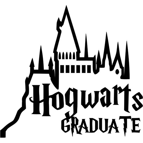 Harry Potter Hogwarts Graduate Vinyl Decal <div> High glossy, premium 3 mill vinyl, with a life span of 5 – 7 years! </div>