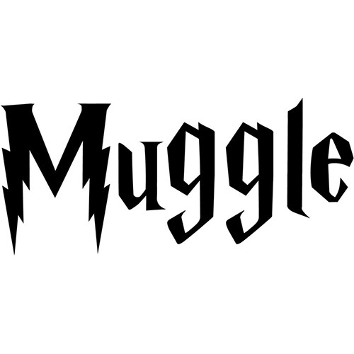 Harry Potter Muggle Vinyl Decal <div> High glossy, premium 3 mill vinyl, with a life span of 5 – 7 years! </div>
