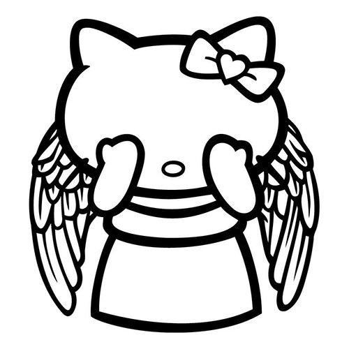 Hello Kitty  Weeping Angel Vinyl Decal <div> High glossy, premium 3 mill vinyl, with a life span of 5 – 7 years! </div>
