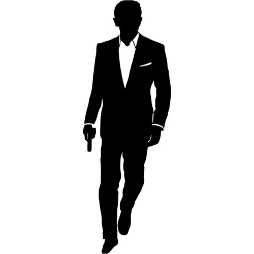 James Bond Vinyl Decal <div> High glossy, premium 3 mill vinyl, with a life span of 5 – 7 years! </div>