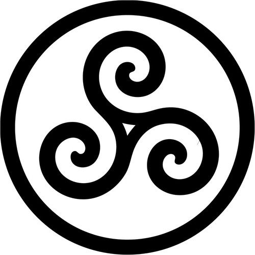 Merlin Inspired Druid Triskele Symbol Vinyl Decal <div> High glossy, premium 3 mill vinyl, with a life span of 5 – 7 years! </div>