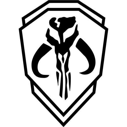 Mythosaur Skull Mandolorian Order Emblem Vinyl Decal <div> High glossy, premium 3 mill vinyl, with a life span of 5 – 7 years! </div>