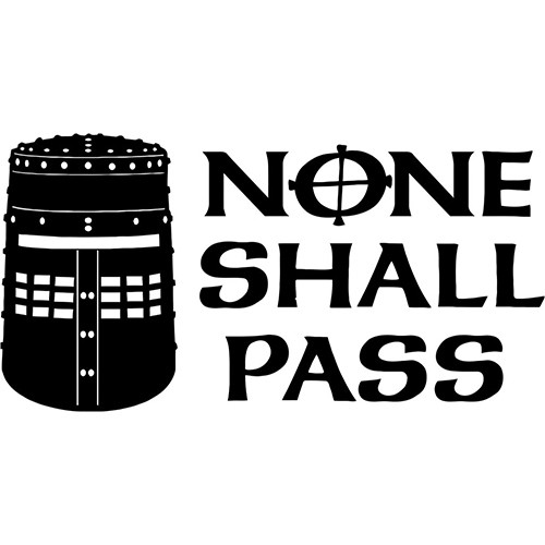 No one Shall Pass Black Knight Helmet Vinyl Decal <div> High glossy, premium 3 mill vinyl, with a life span of 5 – 7 years! </div>