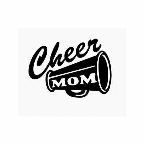 Cheer Cheerleader Mom  Vinyl Decal Sticker  Size option will determine the size from the longest side Industry standard high performance calendared vinyl film Cut from Oracle 651 2.5 mil Outdoor durability is 7 years Glossy surface finish