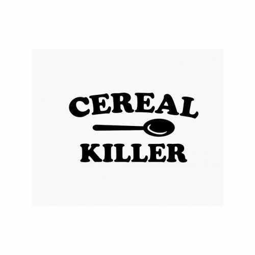 Cereal Killer  Vinyl Decal Sticker  Size option will determine the size from the longest side Industry standard high performance calendared vinyl film Cut from Oracle 651 2.5 mil Outdoor durability is 7 years Glossy surface finish
