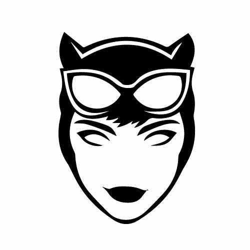 Catwoman Face Vinyl Decal Sticker  Size option will determine the size from the longest side Industry standard high performance calendared vinyl film Cut from Oracle 651 2.5 mil Outdoor durability is 7 years Glossy surface finish