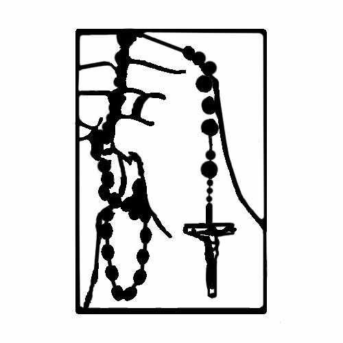 Catholic Rosary  Vinyl Decal Sticker  Size option will determine the size from the longest side Industry standard high performance calendared vinyl film Cut from Oracle 651 2.5 mil Outdoor durability is 7 years Glossy surface finish