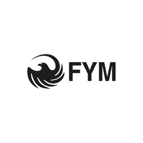 15270 fym logo 3 carbone Vinyl Decal <div> High glossy, premium 3 mill vinyl, with a life span of 5 – 7 years! </div>