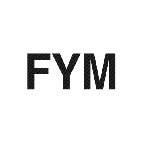 15271 fym logo 4 carbone Vinyl Decal <div> High glossy, premium 3 mill vinyl, with a life span of 5 – 7 years! </div>