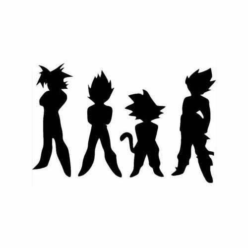Toon- Dragonball Z Characters  Vinyl Decal Sticker  Size option will determine the size from the longest side Industry standard high performance calendared vinyl film Cut from Oracle 651 2.5 mil Outdoor durability is 7 years Glossy surface finish