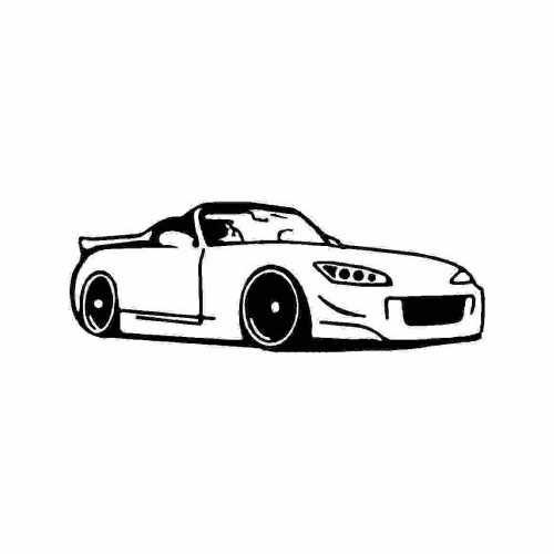 S S2000  Vinyl Decal Sticker  Size option will determine the size from the longest side Industry standard high performance calendared vinyl film Cut from Oracle 651 2.5 mil Outdoor durability is 7 years Glossy surface finish