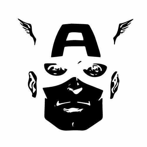 Captain America Vinyl Decal Sticker  Size option will determine the size from the longest side Industry standard high performance calendared vinyl film Cut from Oracle 651 2.5 mil Outdoor durability is 7 years Glossy surface finish